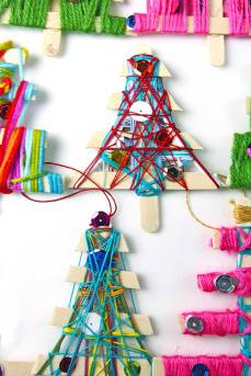Free tree weaving.[image] retrieved from https- goo.gl images 3fGedX_Homemade-Christmas-Ornaments-BABBLE-DABBLE-DO-Yarn-tree-hero3.jpg